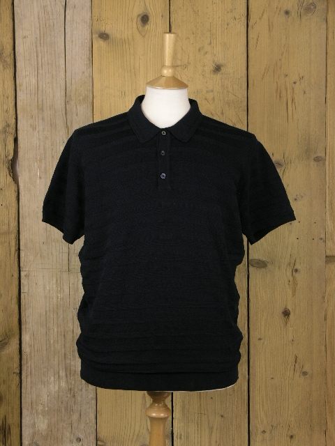 Ben Sherman Navy Knitted Polo 0048937