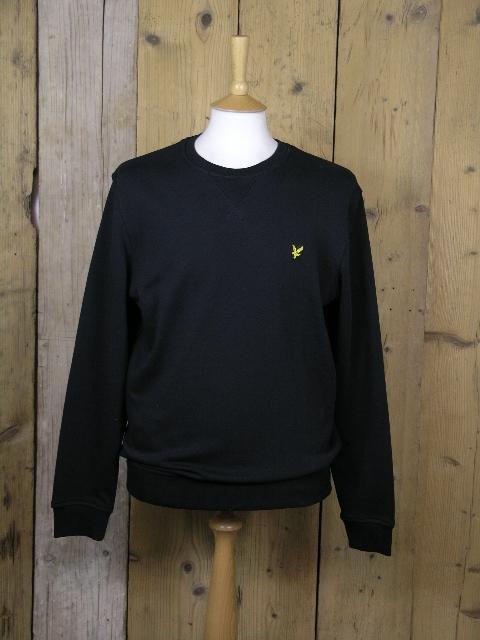 Lyle And Scott Crew Neck True Black Sweater KN400VC
