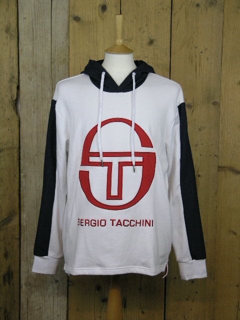 Sergio Tacchini Image White Hooded Sweater