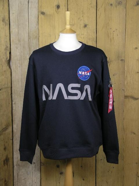 Alpha Industries Blue Nasa Reflective Sweater 178309