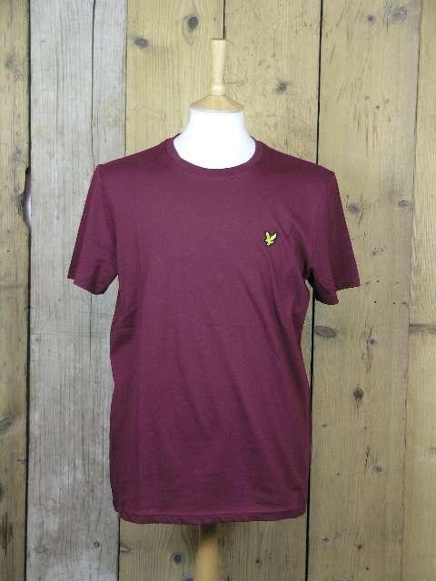 Lyle And Scott Claret Jug Basic Tee TS400V