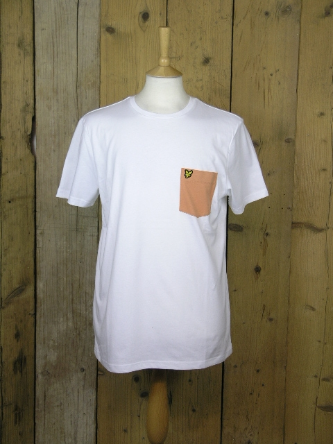 Lyle And Scott Contrast Pocket White Tee TS831V