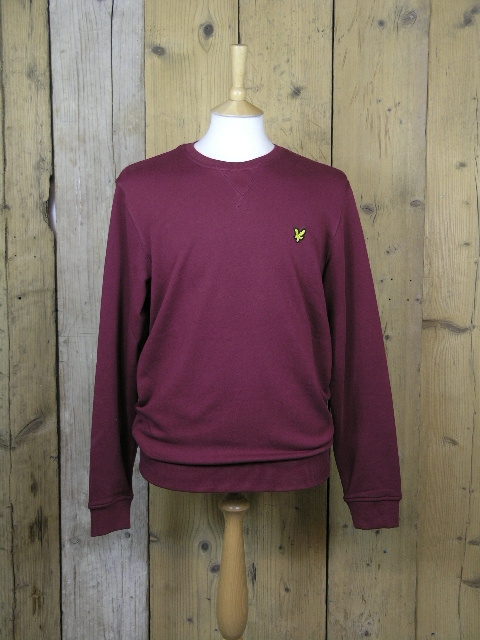 Lyle And Scott Crew Neck Claret Jug Sweater KN400VC