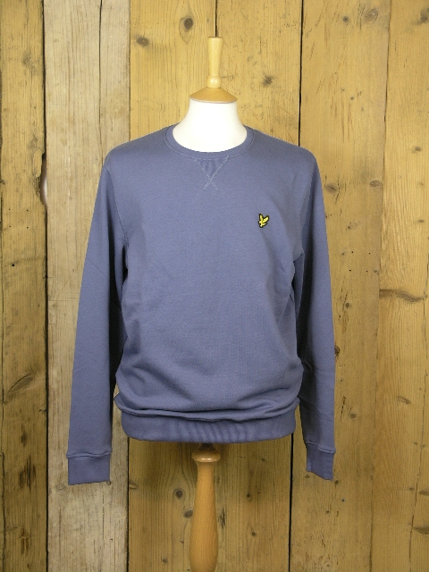 Lyle And Scott Crew Neck Indigo Blue Sweater KN400VC