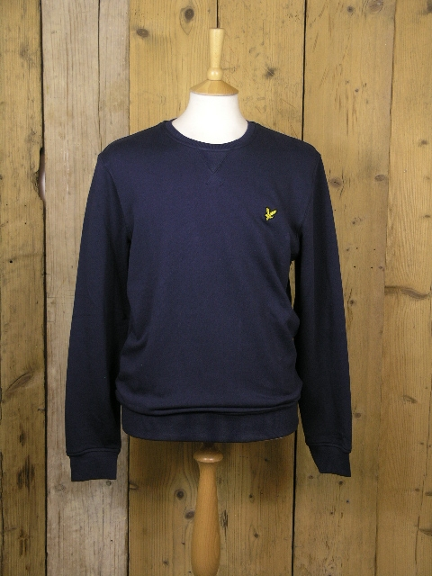 Lyle And Scott Crew Neck Navy Sweater KN400VC