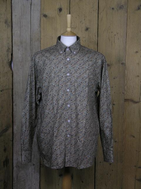 Ska & Soul Taupe Paisley Shirt SS/2213