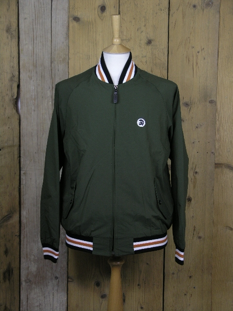 Trojan Olive Trim Harrington Jacket TR/8351