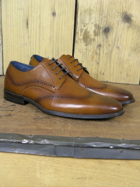 Paolo Vandini Crawford Tan Punch Shoe