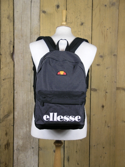 Ellesse Heritage Black Charcoal Regent Backpack SAAY0540