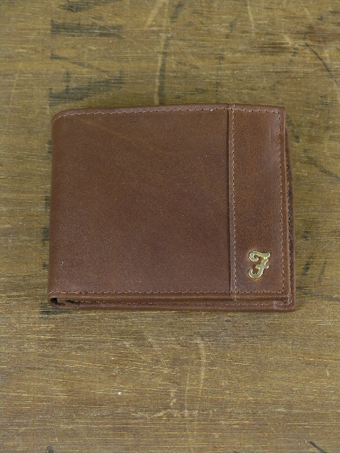 Farah Astor Tan Bi Fold Wallet 055422169731