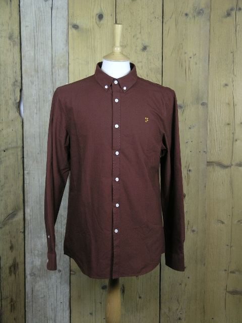 Farah Brewer Cognac Shirt F4WS4054