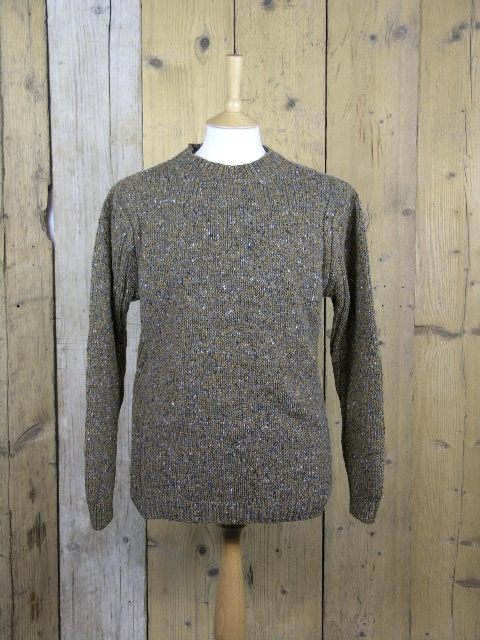 Fisherman Out Of Ireland Brown Crew Neck Knit FD13M/204
