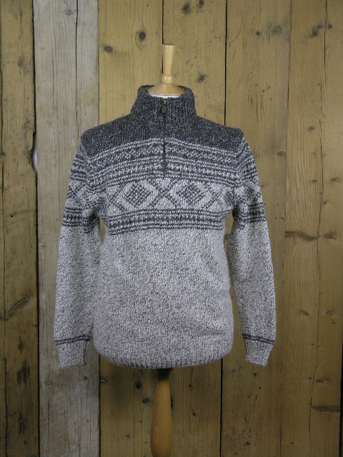 Fisherman Out Of Ireland Charcoal Pattern Zip FDX11K/01