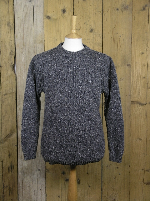 Fisherman Out Of Ireland Charcoal Fleck Roll Neck Knit FDB34T/01
