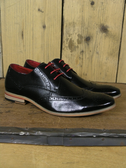 Paolo Vandini Orlando Black Brogue Shoe