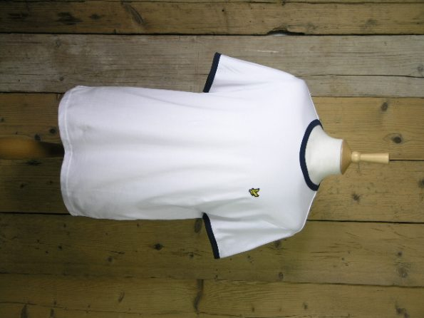 Lyle And Scott White Ringer Tee