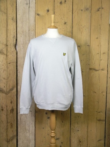 Lyle And Scott Crew Neck Cloud Blue Sweater ML424VTR