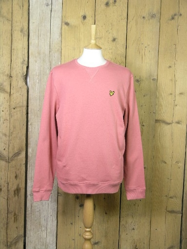 Lyle And Scott Crew Neck Pink Shadow Sweater ML424VTR