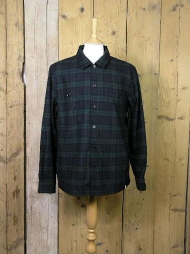 Farah Blackmore Deep Olive Check Over Shirt F4WF9004