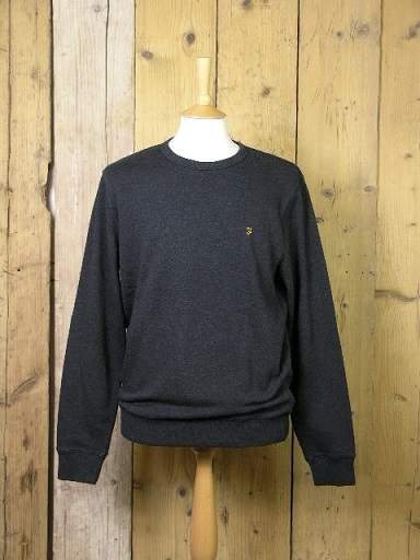 Farah Tim Black Marl Sweat F4KS80H1