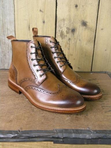 John White Tan Midland Boot