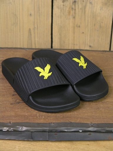 Lyle And Scott Black Thomson Sliders