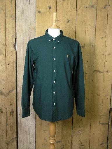 Farah Brewer Emerald Shirt F4WS4054