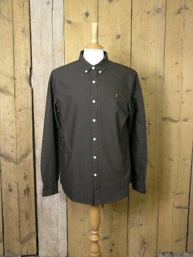Farah Brewer Brown Shirt F4WS4054