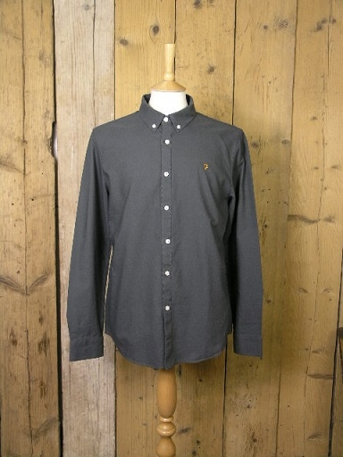 Farah Brewer Charcoal Shirt F4WS4054
