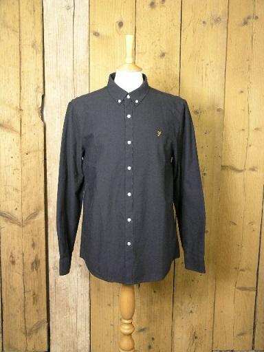 Farah Navy Brewer Shirt F4WS4054