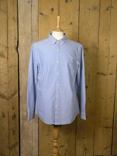 Farah Brewer Mid Blue Shirt F4WS4054