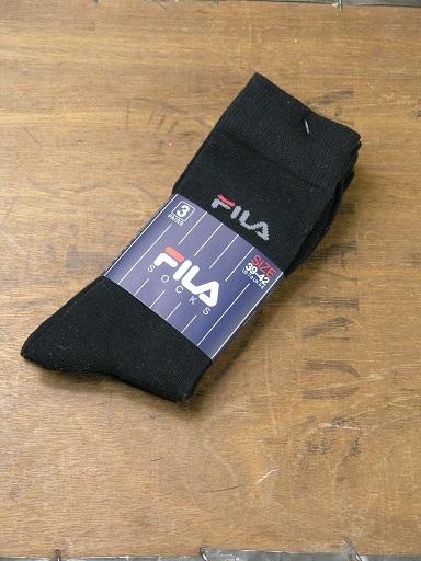 Fila Black Mini Logo 3 Multi Pack F9630