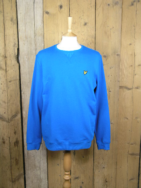 Lyle And Scott Crew Neck Colbolt Blue Sweater ML424VTR
