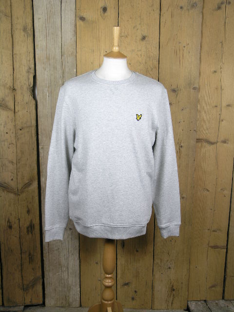 Lyle And Scott Crew Neck Light Grey Sweater ML424VTR