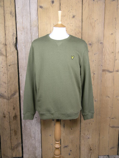 Lyle And Scott Crew Neck Lichen Green Sweater ML424VTR