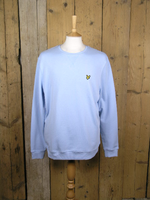 Lyle And Scott Crew Neck Pool Blue Sweater ML424VTR