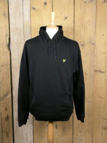 SALE Lyle and Scott Pullover Sharp Green Hooded Sweatshirt ML416VTR