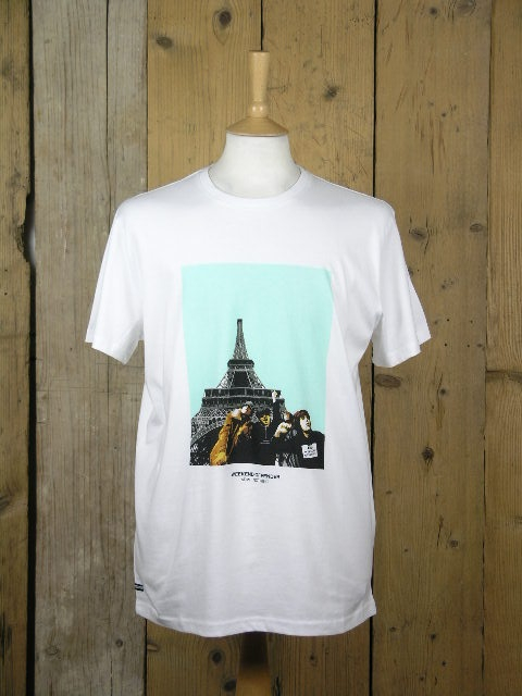 Weekend Offender White Paris Tee PTAW2006