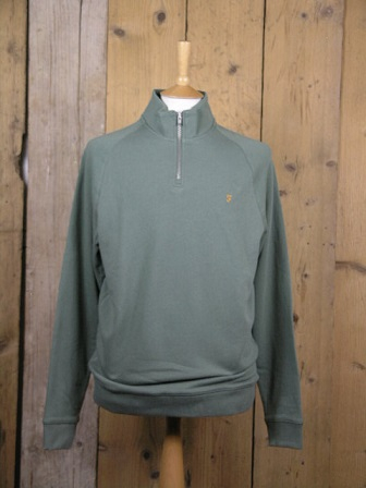 Farah Vintage Fern Green Jim Pullover Sweat F4KS80H3