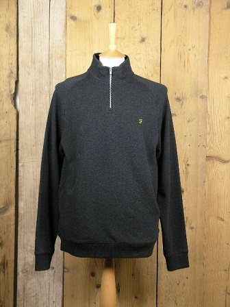 Farah Vintage Black Marl Jim Pullover Sweat F4KS80H3