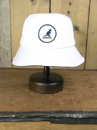 Kangol White Cotton Logo Bucket Cap K422SP