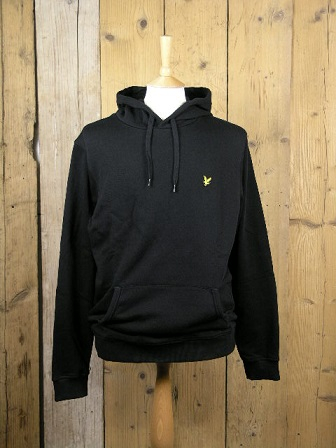Lyle And Scott Black Pullover Hoodie ML416VTR
