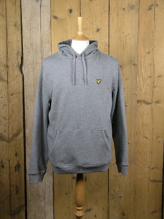 Lyle And Scott Marl Grey Pullover Hoodie ML416VTR
