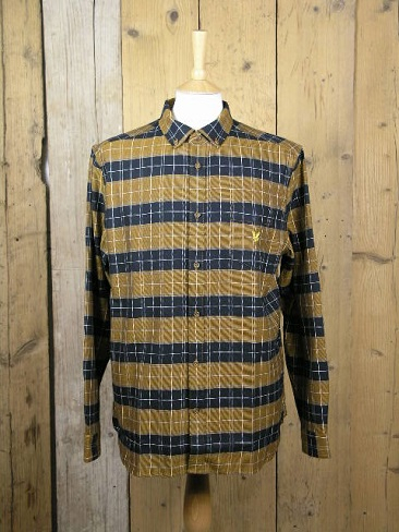 Lyle And Scott Archive Caramel Brushed Check Shirt LW1340V