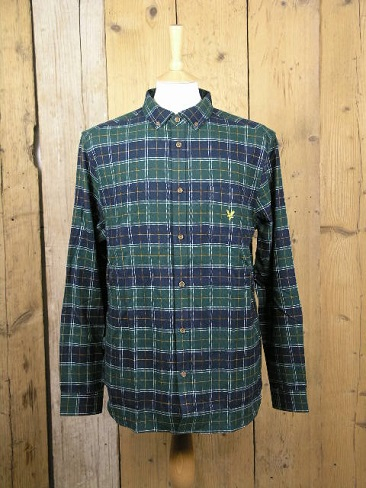 Lyle And Scott Archive Jade Brushed Check Shirt LW1340V