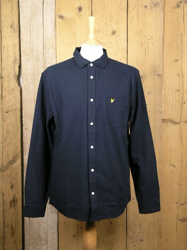 Lyle And Scott Brushed Cotton Navy Shirt LW1303VR