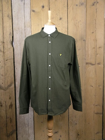 Lyle And Scott Brushed Cotton Trek Green Shirt LW1303VR